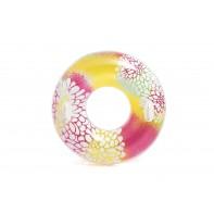 Plávacie koleso Intex s držiakmi 91cm, vzor fŕkané farby a kvety