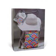 Darčeková taška dievčatko s klobúkom - 17x23 cm