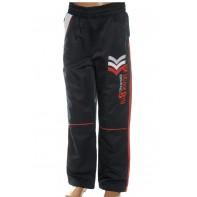 Detské šušťákové nohavice čierne 122