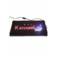 LED svietiaca reklama - KAVIAREŇ