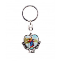 Kľúčenka - náboženský motív - srdce svätý Krištof