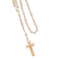 Drevený ruženec s krížikom
