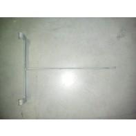 Hák dvojitý na sito alebo rebrinový systém 36cm