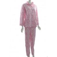 Bavlnené dámske pyžamo na gombíky
