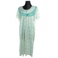 Dámska nočná košeľa - kratkz rukav veľký kvet