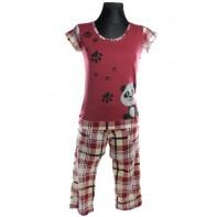 Bavlnené dámske pyžamo - panda
