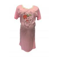 Dámska tehotenská nočná košeľa myška so srdcom