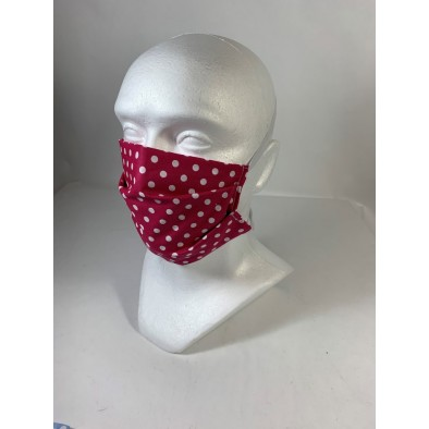 Bavlnené rúško bodka -gumička za hlavu