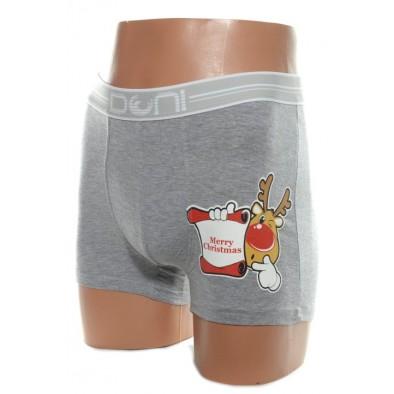 Pánske vianočné  boxerky - šedé M