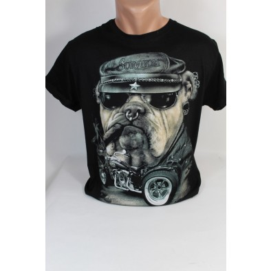 Pánske tričko PoloTrade Survivors Buldog