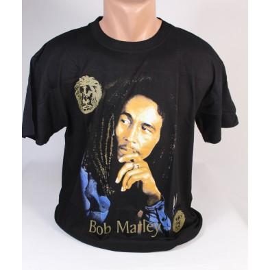 Tričko Bob Marley, zlatý nápis