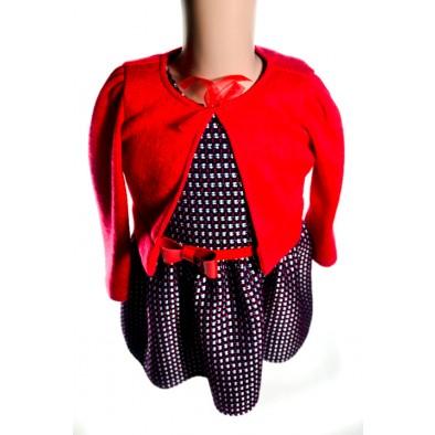 Dievčenské bolerko - červené