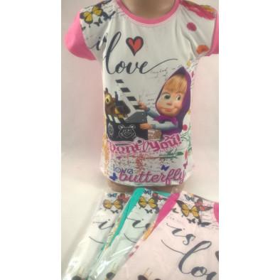 Dievčenské tričko Love - Máša a Medveď