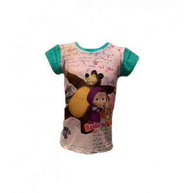 Dievčenské tričko - Máša a medveď
