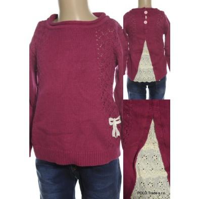 Detský obojstranny sveter - štrikovaný