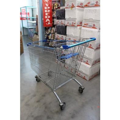 Nákupný vozík kovový modrý velký