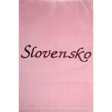 Uterák Slovensko - ružový svk slovakia 87*49cm