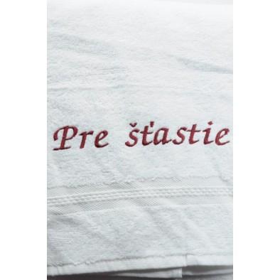 Osuška Pre šťastie - biela 70x140cm, PoloTrade