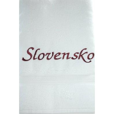 Osuška Slovensko - biela, 70x140cm, PoloTrade