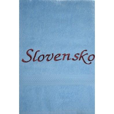 Osuška Slovensko - modrá, 70x140cm, PoloTrade