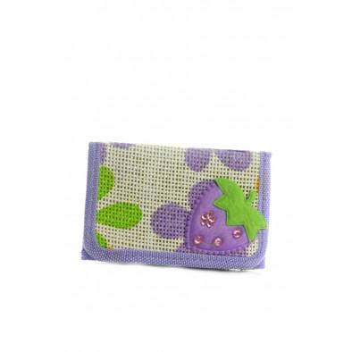 Látková peňaženka- jahôdka
