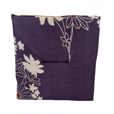 Jednostranný sedák fialový-kvety, PoloTrade