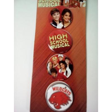 Odznaky H.School-okruhle 4 ks