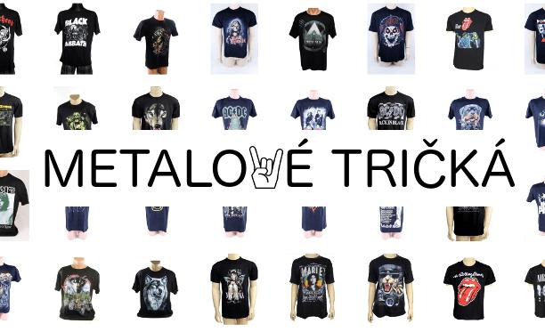 Metalové a motorkárske tričká